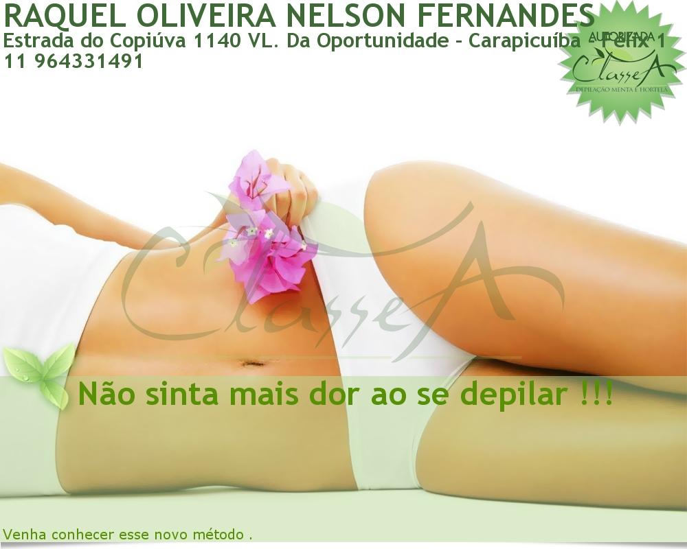 RAQUEL OLIVEIRA NELSON FERNANDES