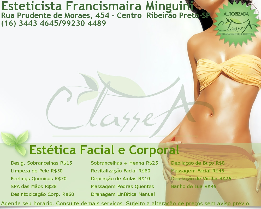 Esteticista Francismaira Minguini
